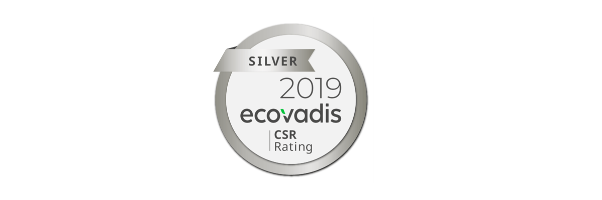 """silver"" rating from EcoVadis for sustainability"